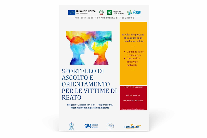 Sportello Vittime, un progetto di Giustizia Riparativa | mediazionebrescia.it